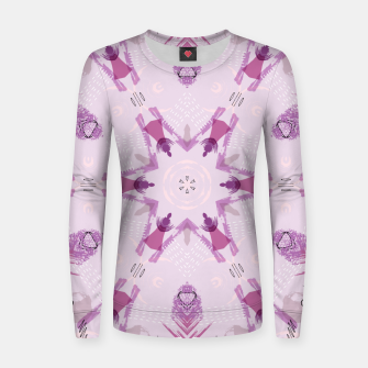 Miniatur Purple Kaleidoscope Mandala Women sweater, Live Heroes