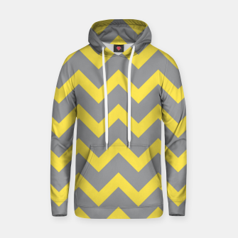 Chevron ultimate grey illuminating yellow pattern Hoodie thumbnail image