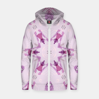 Miniatur Purple Kaleidoscope Mandala Zip up hoodie, Live Heroes