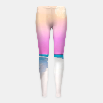 Thumbnail image of Ocean & Moon II Girl's leggings, Live Heroes