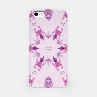 Miniatur Purple Kaleidoscope Mandala iPhone Case, Live Heroes