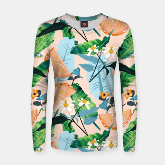 Thumbnail image of Summer Botanicals Women sweater, Live Heroes
