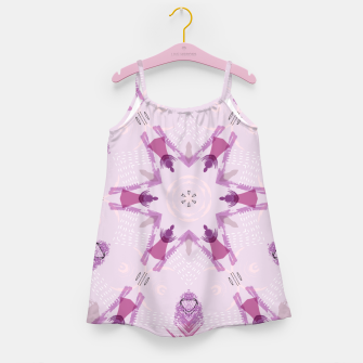 Miniatur Purple Kaleidoscope Mandala Girl's dress, Live Heroes
