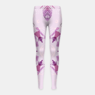 Miniatur Purple Kaleidoscope Mandala Girl's leggings, Live Heroes