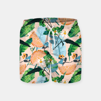 Thumbnail image of Summer Botanicals Swim Shorts, Live Heroes