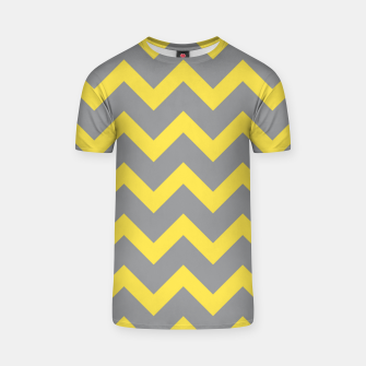 Miniatur Chevron ultimate grey illuminating yellow pattern T-shirt, Live Heroes