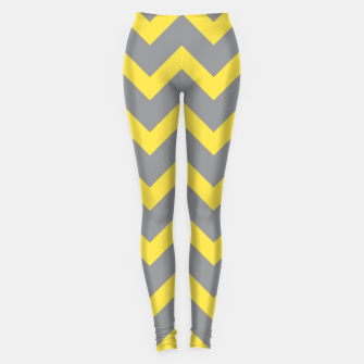 Chevron ultimate grey illuminating yellow pattern Leggings thumbnail image