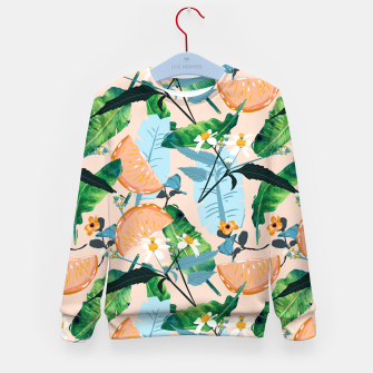 Thumbnail image of Summer Botanicals Kid's sweater, Live Heroes