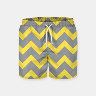 Thumbnail image of Chevron ultimate grey illuminating yellow pattern Swim Shorts, Live Heroes