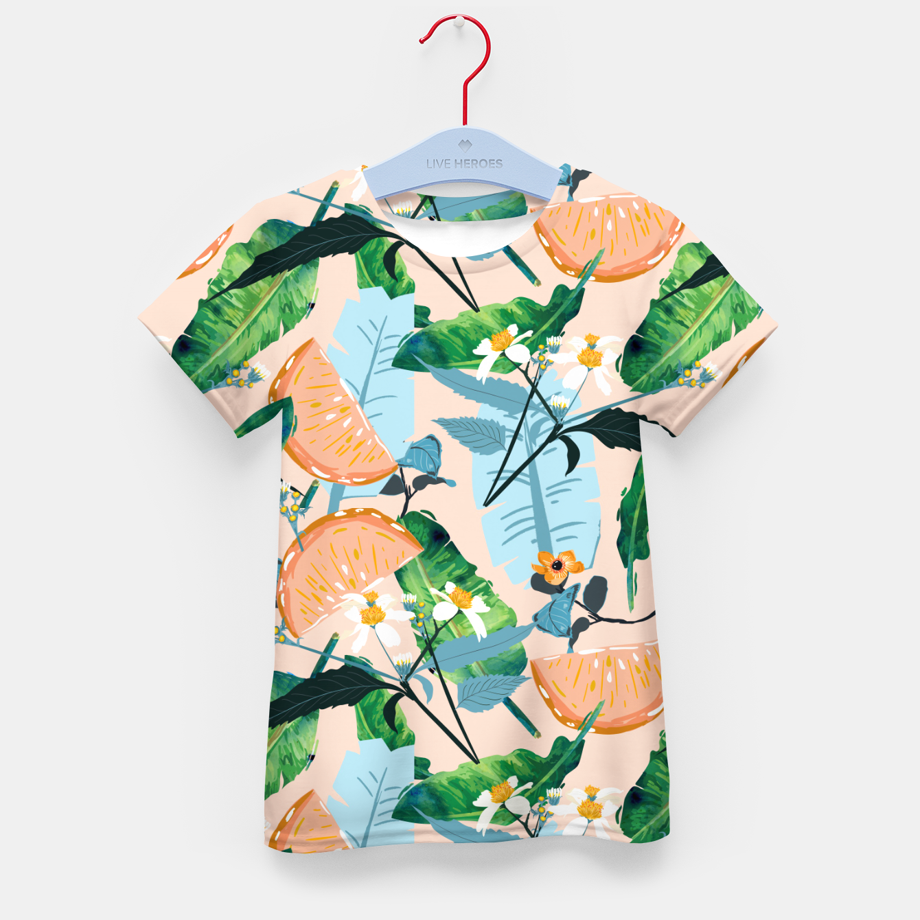 Image of Summer Botanicals Kid's t-shirt - Live Heroes