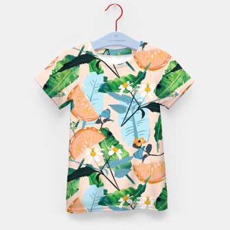 Thumbnail image of Summer Botanicals Kid's t-shirt, Live Heroes