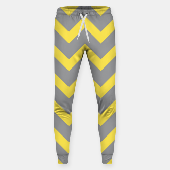 Chevron ultimate grey illuminating yellow pattern Sweatpants thumbnail image