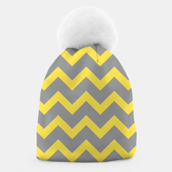 Chevron ultimate grey illuminating yellow pattern Beanie thumbnail image