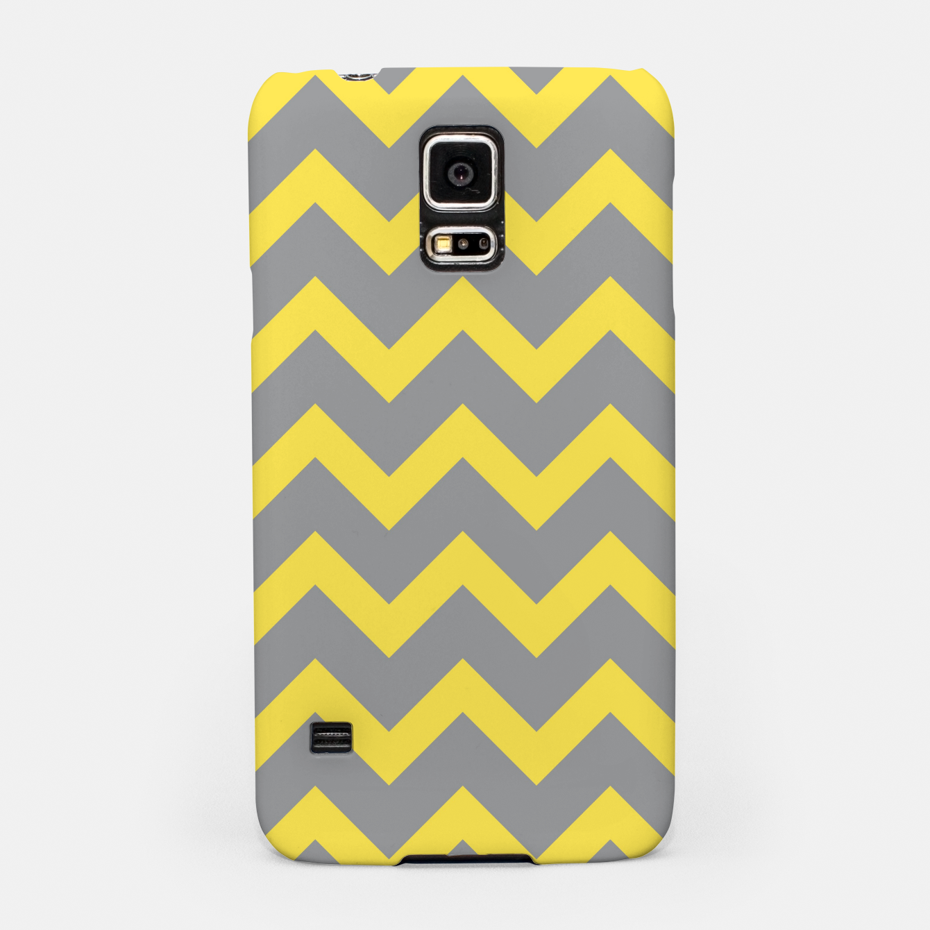 Image of Chevron ultimate grey illuminating yellow pattern Samsung Case - Live Heroes