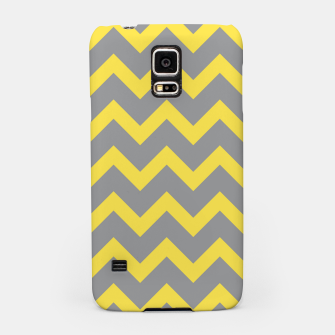 Miniatur Chevron ultimate grey illuminating yellow pattern Samsung Case, Live Heroes