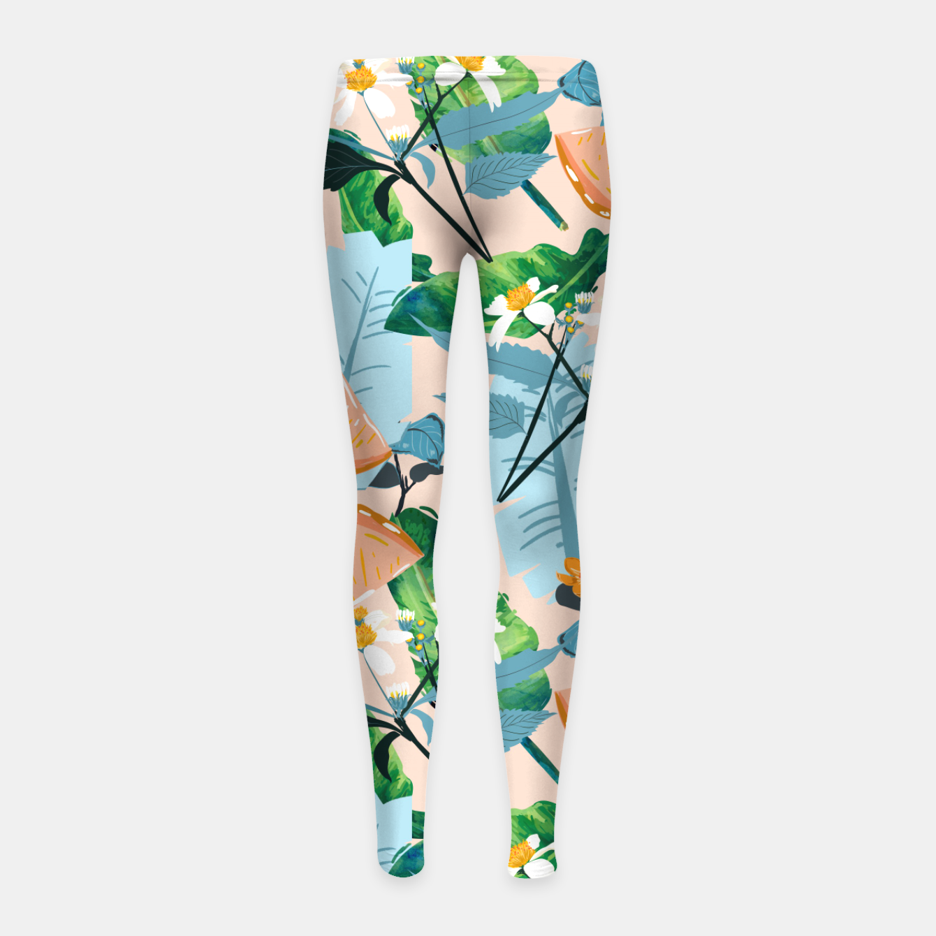 Image of Summer Botanicals Girl's leggings - Live Heroes