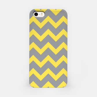 Chevron ultimate grey illuminating yellow pattern iPhone Case thumbnail image