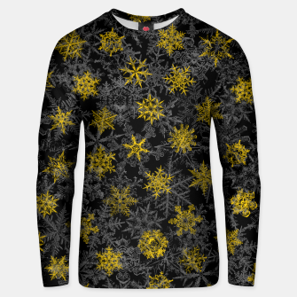 Snowflake Winter Queen Ornate Snow Crystals Pattern Black Unisex sweater thumbnail image