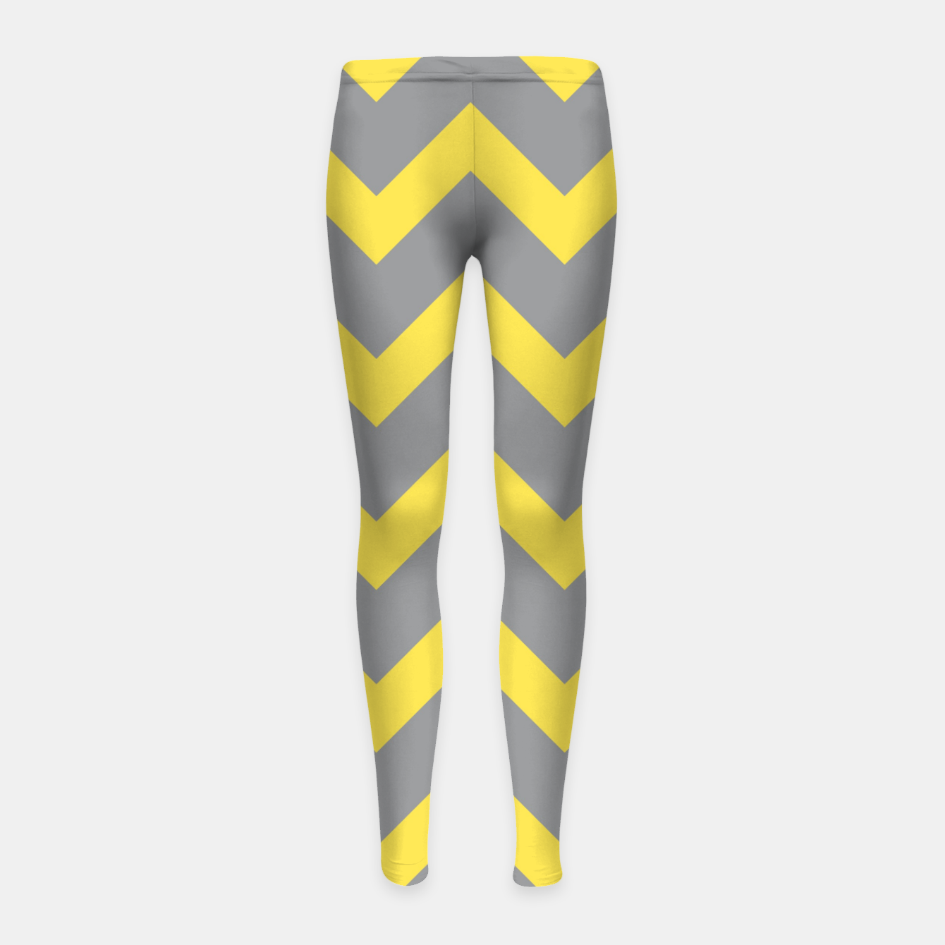 Image of Chevron ultimate grey illuminating yellow pattern Girl's leggings - Live Heroes