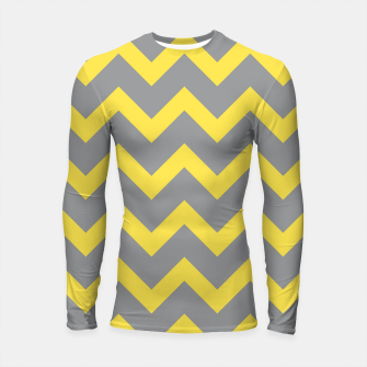Thumbnail image of Chevron ultimate grey illuminating yellow pattern Longsleeve rashguard , Live Heroes