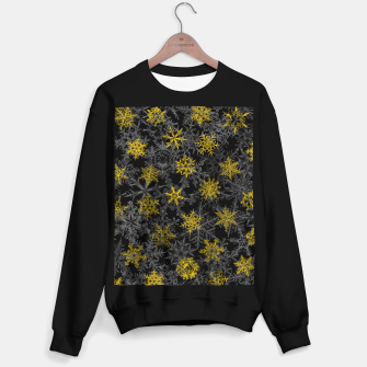 Snowflake Winter Queen Ornate Snow Crystals Pattern Black Sweater regular thumbnail image
