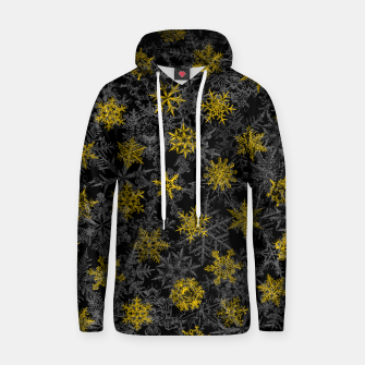 Thumbnail image of Snowflake Winter Queen Ornate Snow Crystals Pattern Black Hoodie, Live Heroes