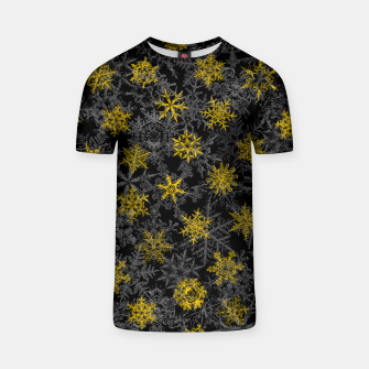 Thumbnail image of Snowflake Winter Queen Ornate Snow Crystals Pattern Black T-shirt, Live Heroes