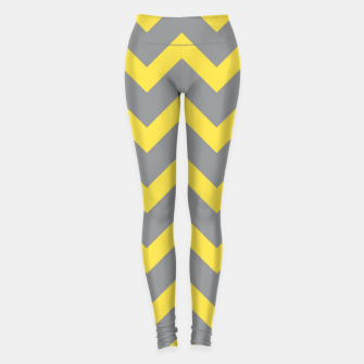 Thumbnail image of Chevron ultimate grey illuminating yellow pattern Leggings, Live Heroes