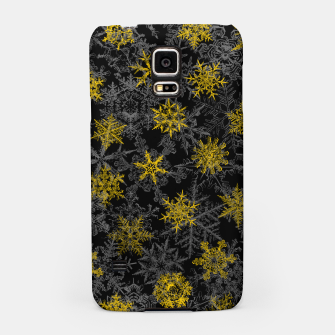 Miniatur Snowflake Winter Queen Ornate Snow Crystals Pattern Black Samsung Case, Live Heroes