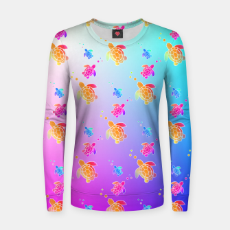 Thumbnail image of Under The Sea Turtles Women sweater, Live Heroes