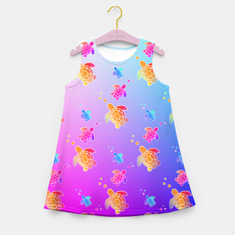 Thumbnail image of Under The Sea Turtles Girl's summer dress, Live Heroes