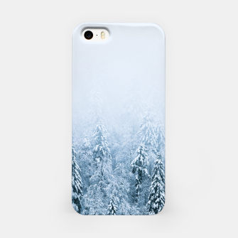 Thumbnail image of Snow covered beech spruce forest in fog iPhone Case, Live Heroes