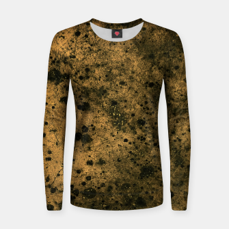 Thumbnail image of Orange and Black Grunge Print Women sweater, Live Heroes