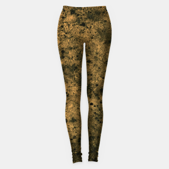 Miniatur Orange and Black Grunge Print Leggings, Live Heroes