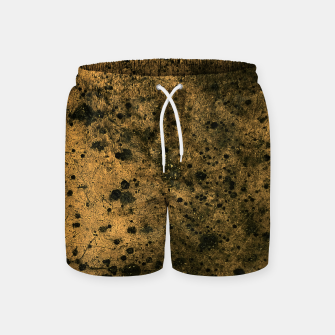 Miniatur Orange and Black Grunge Print Swim Shorts, Live Heroes
