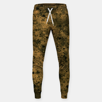 Miniatur Orange and Black Grunge Print Sweatpants, Live Heroes