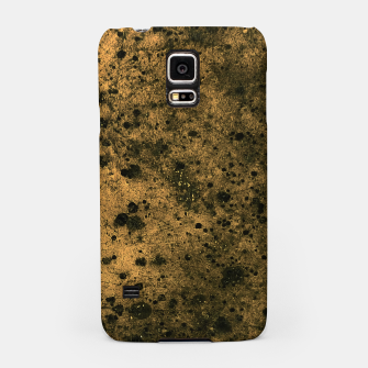Miniatur Orange and Black Grunge Print Samsung Case, Live Heroes