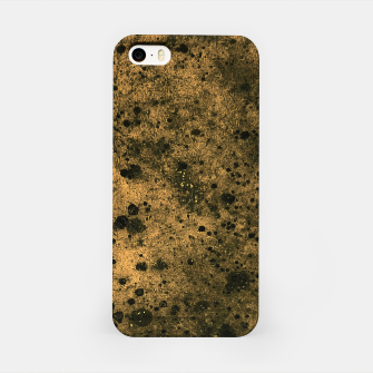 Miniatur Orange and Black Grunge Print iPhone Case, Live Heroes