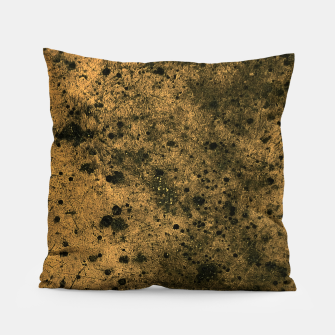 Miniatur Orange and Black Grunge Print Pillow, Live Heroes