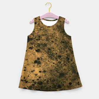 Thumbnail image of Orange and Black Grunge Print Girl's summer dress, Live Heroes