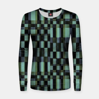 Miniatur Dark Geometric Pattern Design Women sweater, Live Heroes