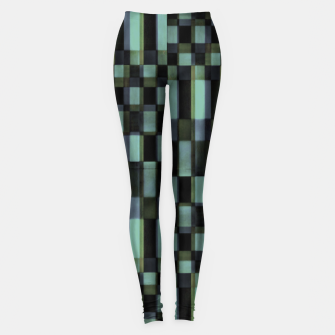 Miniatur Dark Geometric Pattern Design Leggings, Live Heroes