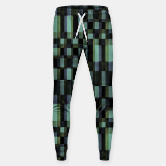 Miniatur Dark Geometric Pattern Design Sweatpants, Live Heroes