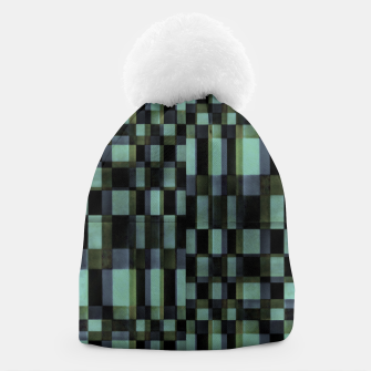 Thumbnail image of Dark Geometric Pattern Design Beanie, Live Heroes