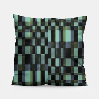 Miniatur Dark Geometric Pattern Design Pillow, Live Heroes