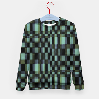 Miniatur Dark Geometric Pattern Design Kid's sweater, Live Heroes