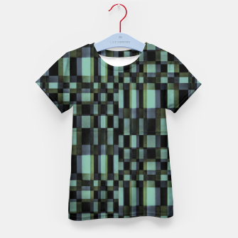 Thumbnail image of Dark Geometric Pattern Design Kid's t-shirt, Live Heroes