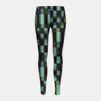 Miniatur Dark Geometric Pattern Design Girl's leggings, Live Heroes