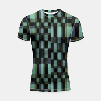 Thumbnail image of Dark Geometric Pattern Design Shortsleeve rashguard, Live Heroes