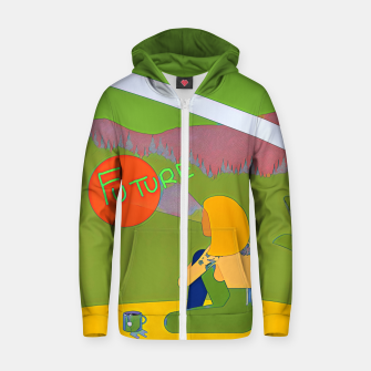 Thumbnail image of Future Zip up hoodie, Live Heroes